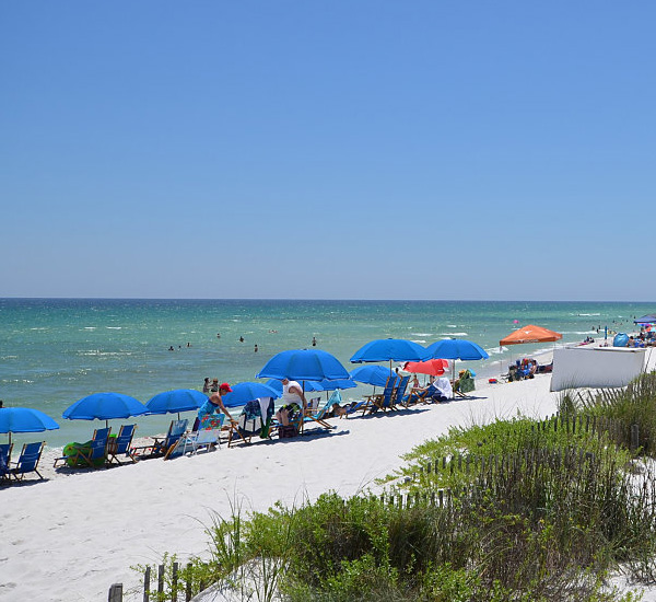 On the beach at Summerwinds Resorts in Navarre Florida