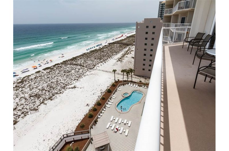 View the pool and coastline from Summerwinds Resorts in Navarre Florida