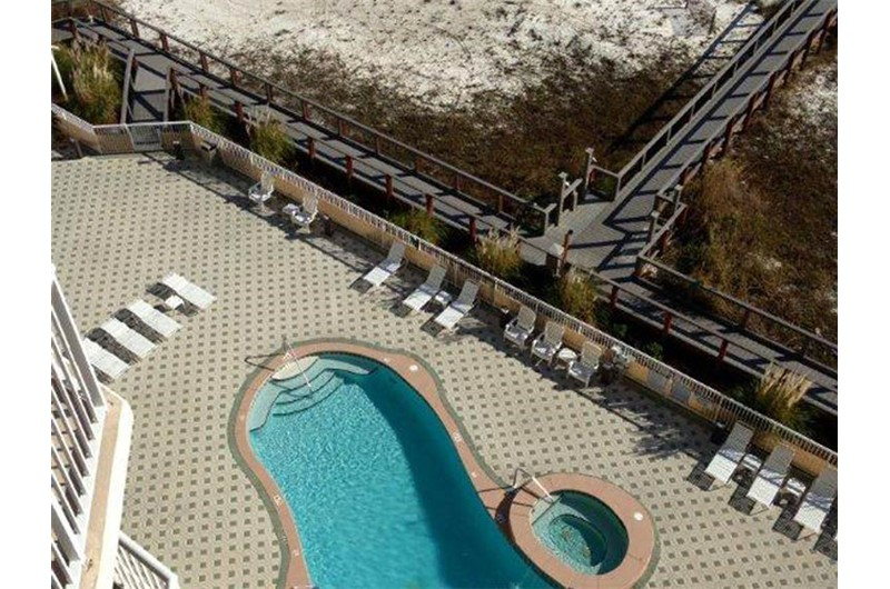 Get a birds eye view of the pool at Summerwinds Resorts in Navarre Florida