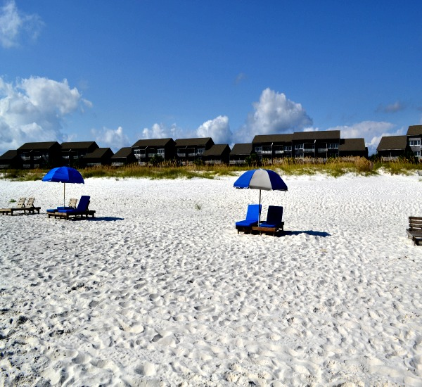 Beach front view at Needle Rush Point in Perdido Key FL