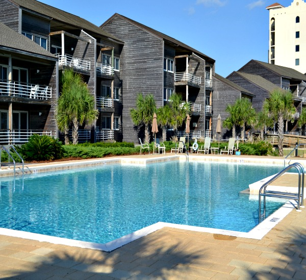 Outdoor pool at Needle Rush Point in Perdido Key FL