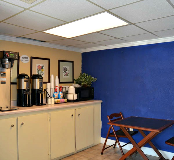 Coffee bar at Ocean Breeze Hotel in Panama City Beach FL