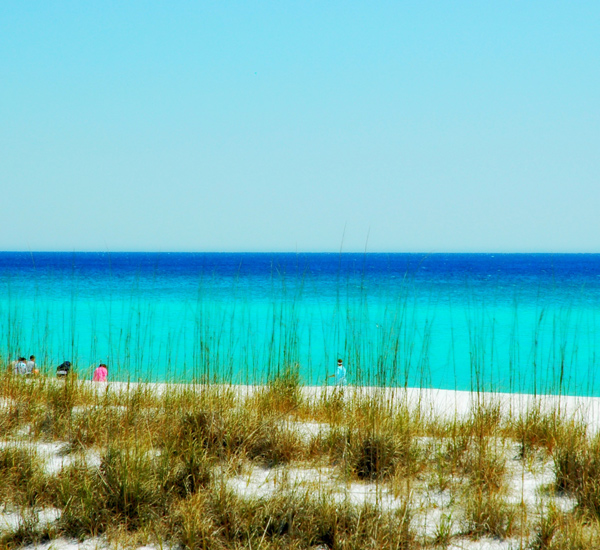 Beach at Oceania on Holiday Isle in Destin Florida.