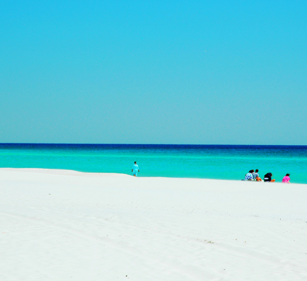 Sugar-white sand beach  at Oceania  in Destin Florida
