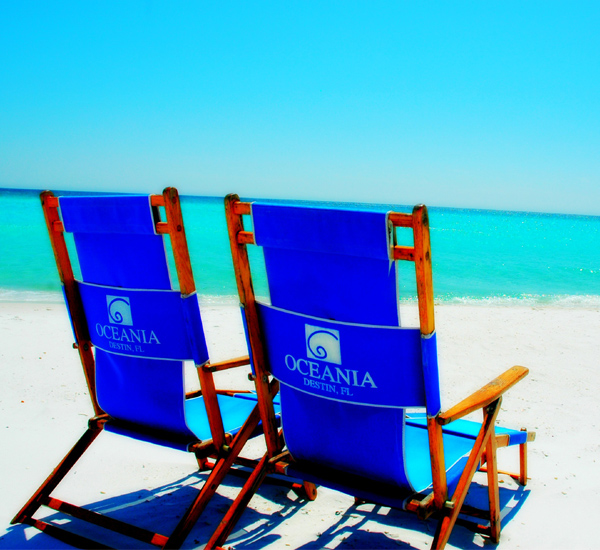 Beach services are offered at Oceania in Destin Florida.