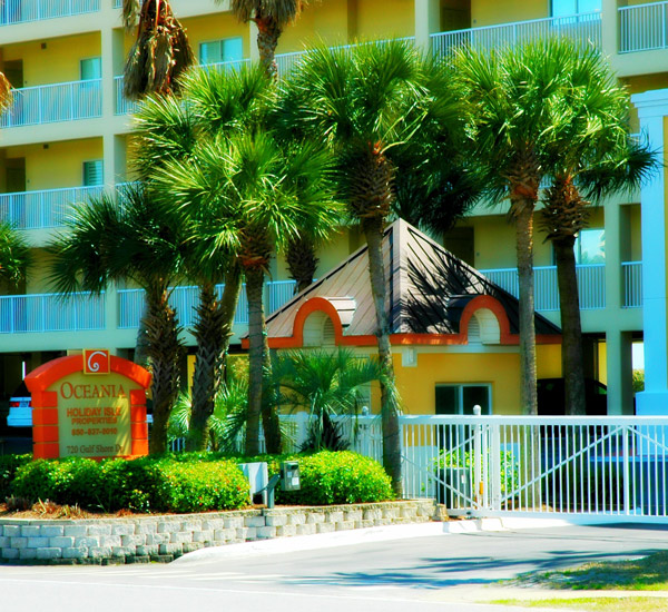 Gated property at Oceania  in Destin Florida