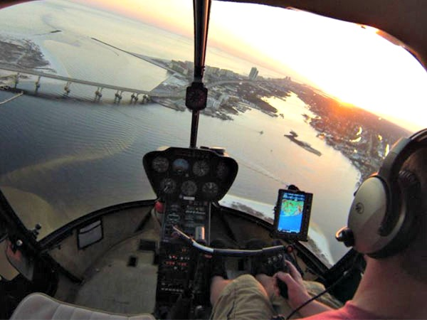View Of The Gulf Aboard Orange Beach Helicopters