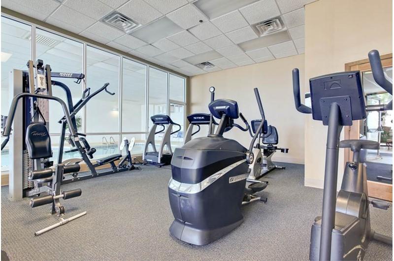 Workout room at  Admirals Quarters Orange Beach