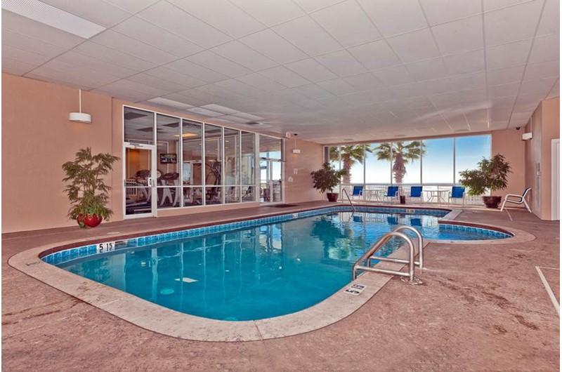 Indoor pool at  Admirals Quarters Orange Beach