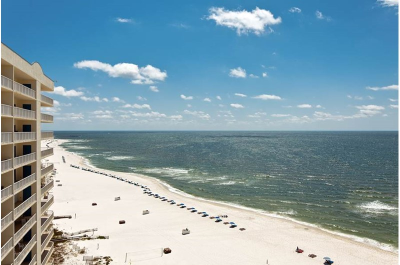 Expansive balcony view at Admirals Quarters Orange Beach