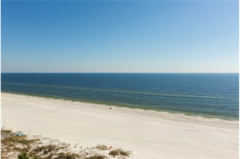 Lovely beach view from Bluewater in Orange Beach Alabama