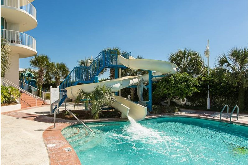 Water slide for the kiddies at Caribe Resort in Orange Beach Alabama