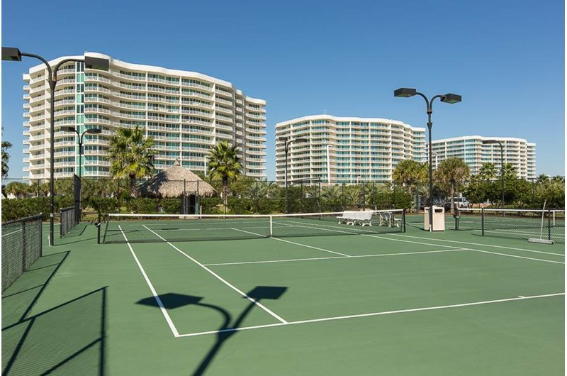 Enjoy a round of tennis at Caribe Resort in Orange Beach Alabama