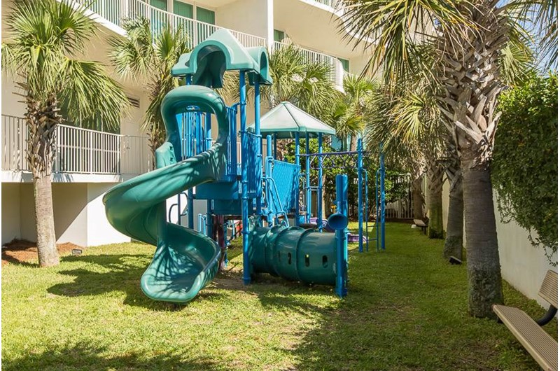You will have an adorable playground for the little ones at Caribe Resort in Orange Beach Alabama
