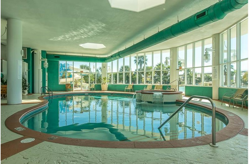 Large indoor pool at Caribe Resort in Orange Beach Alabama