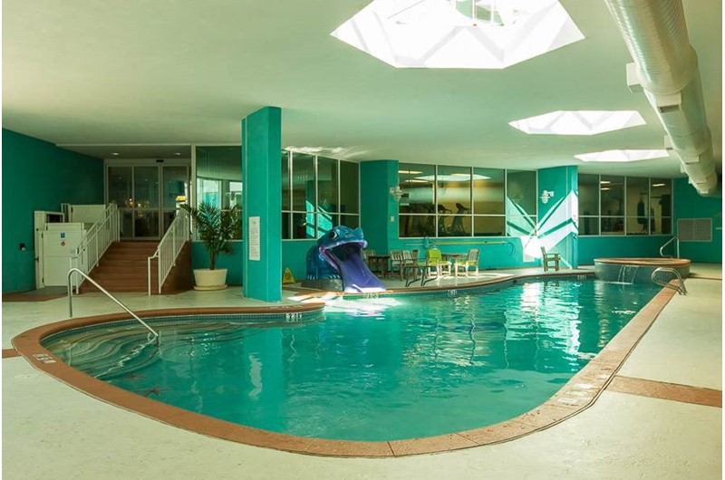 Take a break from the sun and swim indoors at Caribe Resort in Orange Beach Alabama