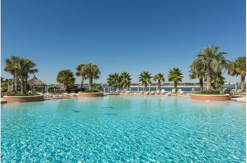 Huge pool with Gulf view at Caribe Resort in Orange Beach Alabama