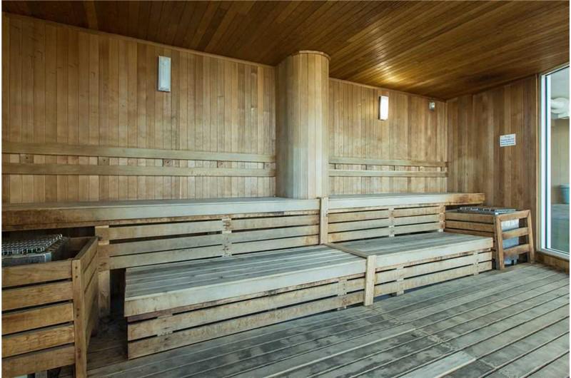 Relax in the huge sauna at Caribe Resort in Orange Beach Alabama