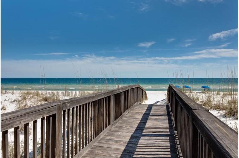 Beach walkway at Dolphin Key in Orange Beach AL