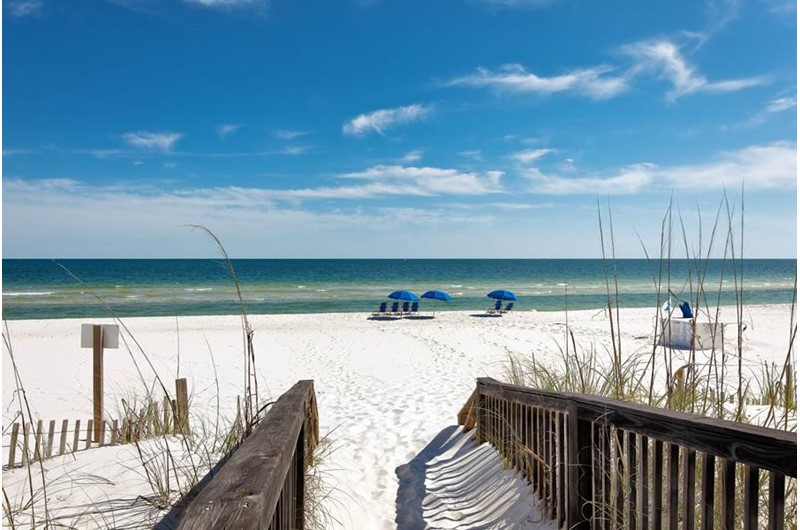 The Beach Is Steps From Dolphin Key In Orange Alabama