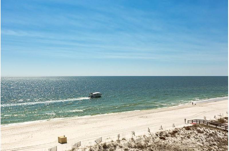 Long beach to walk along at Dolphin Key in Orange Beach Alabama