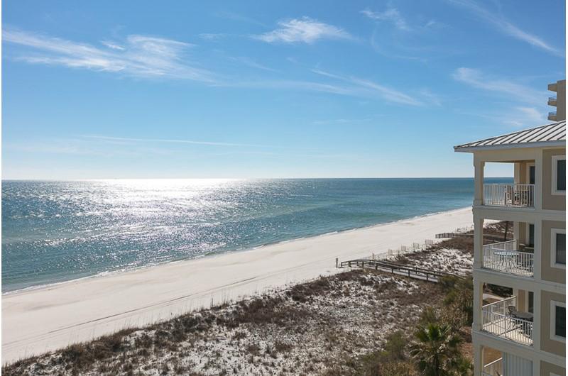 Beachfront view of the Gulf at Dolphin Key in Orange Beach AL
