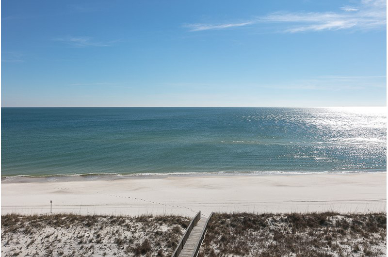 Beautiful view of the Gulf at Dolphin Key in Orange Beach Alabama