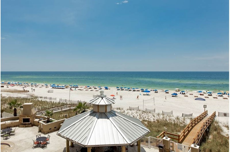 Amazing grounds right on the beach at Escapes! To the Shores in Orange Beach AL