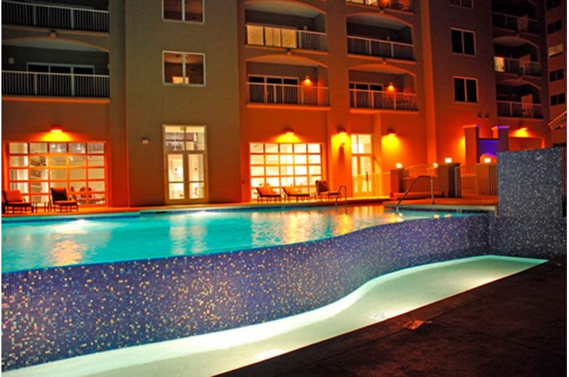 Enjoy a night swim at Escapes! To the Shores in Orange Beach AL