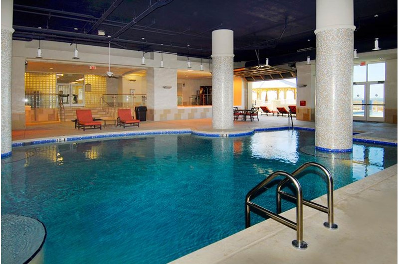 Enjoy the indoor pool on rainy days at Escapes! To the Shores in Orange Beach AL