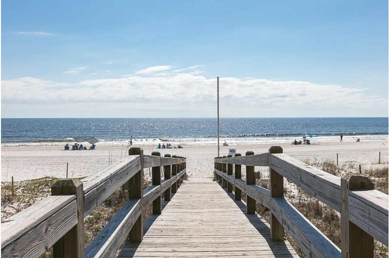 Easy access to the gorgeous beach from Escapes! To the Shores in Orange Beach AL