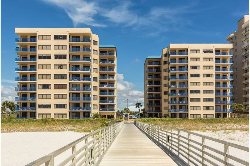Four Seasons in Orange Beach Alabama is directly beach front