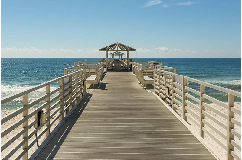 Enjoy the pier at  Four Seasons in Orange Beach Alabama