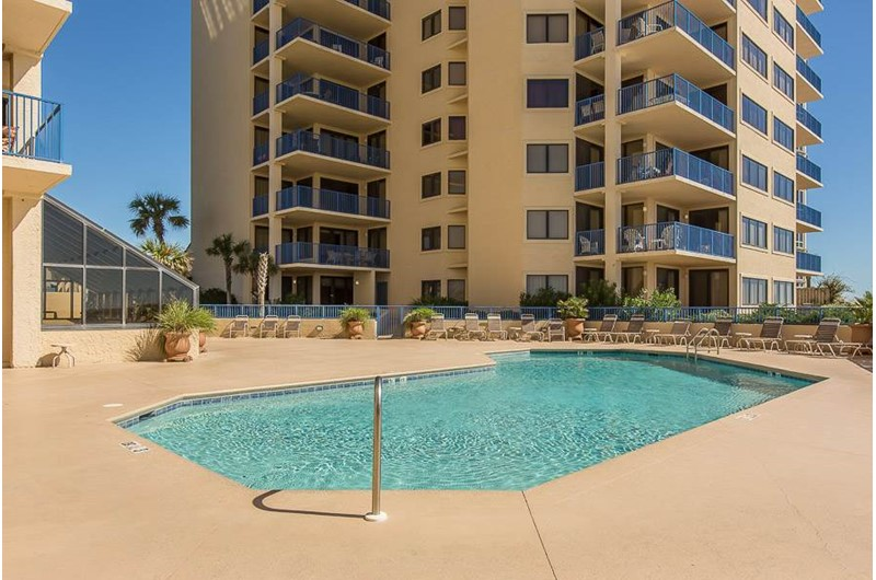 There is plenty of room in the pool for friends and family at  Four Seasons in Orange Beach Alabama