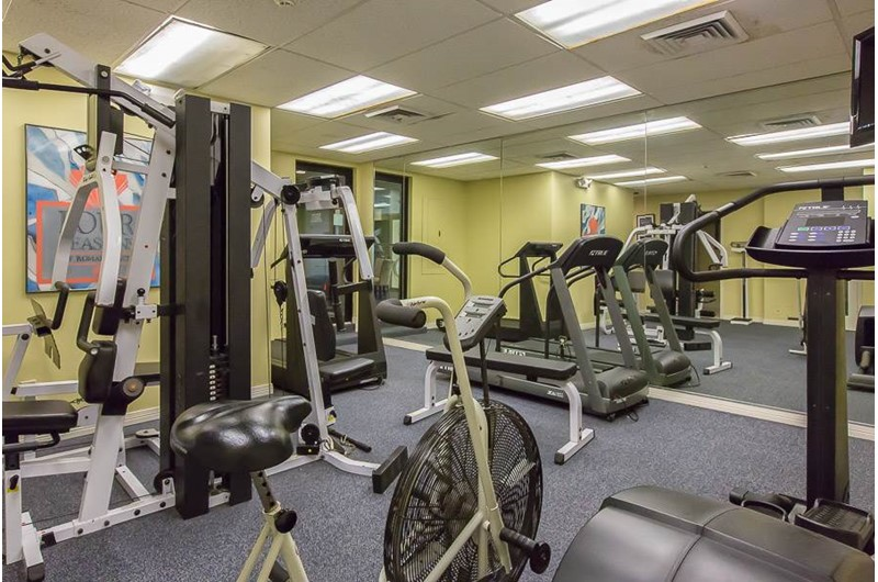 Get your workout in the gym at  Four Seasons in Orange Beach Alabama