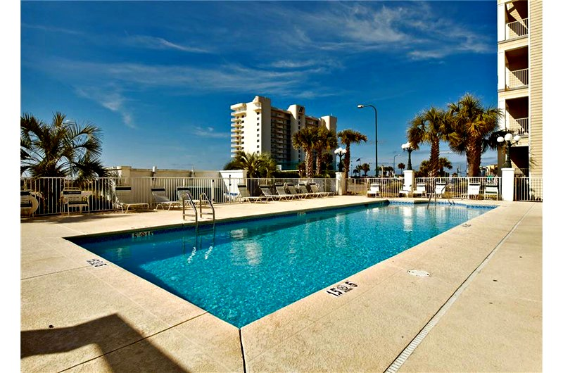Poolside view of Grand Caribbean in Orange Beach AL