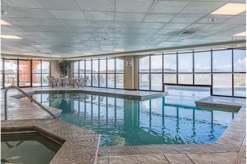 View of indoor pool at Harbour Place in Orange Beach AL