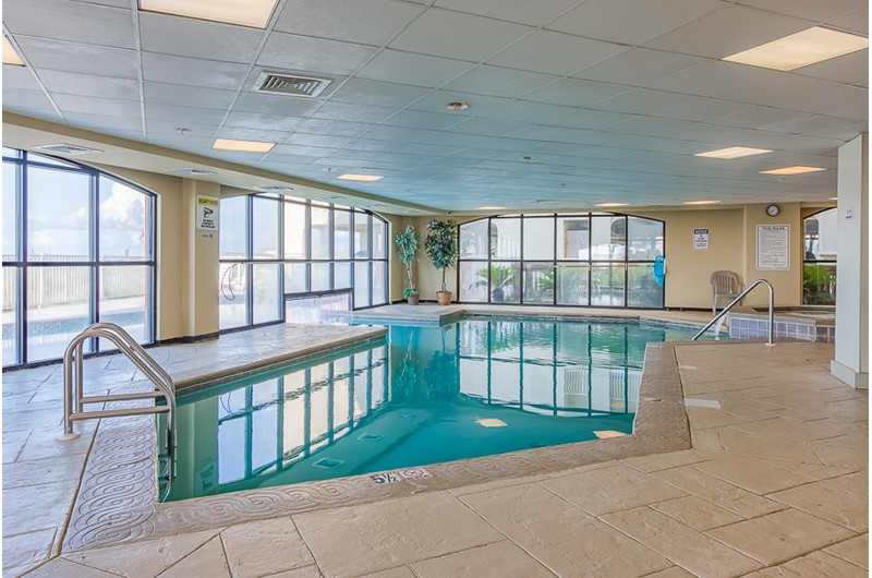 Large indoor pool at Harbour Place in Orange Beach AL
