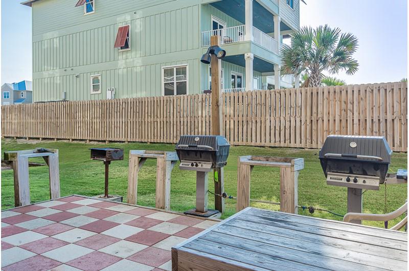Convenient grilling area at Harbour Place in Orange Beach Alabama