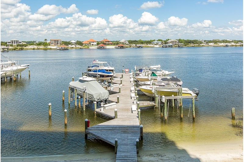 Dock from Legacy Key in Orange Beach Alabama