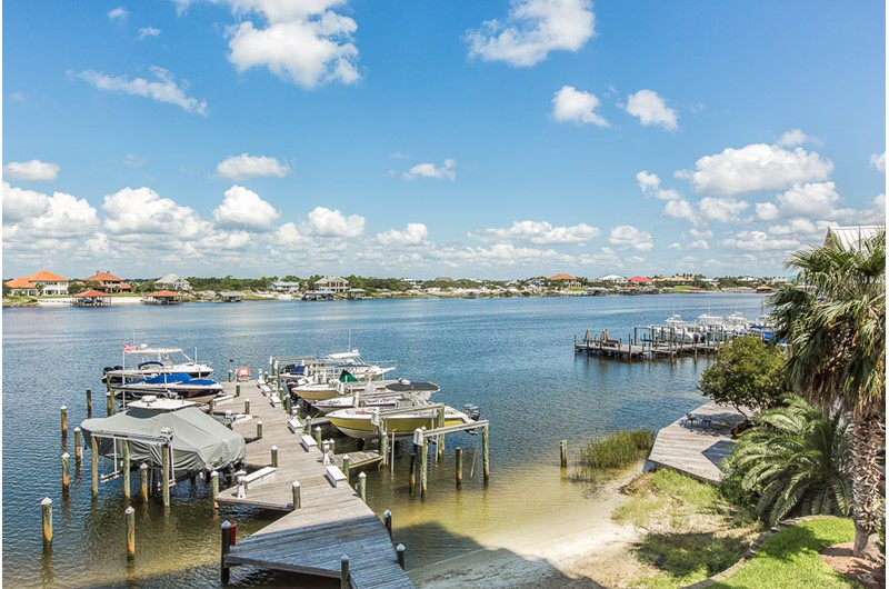 Dock view form Legacy Key in Orange Beach Alabama