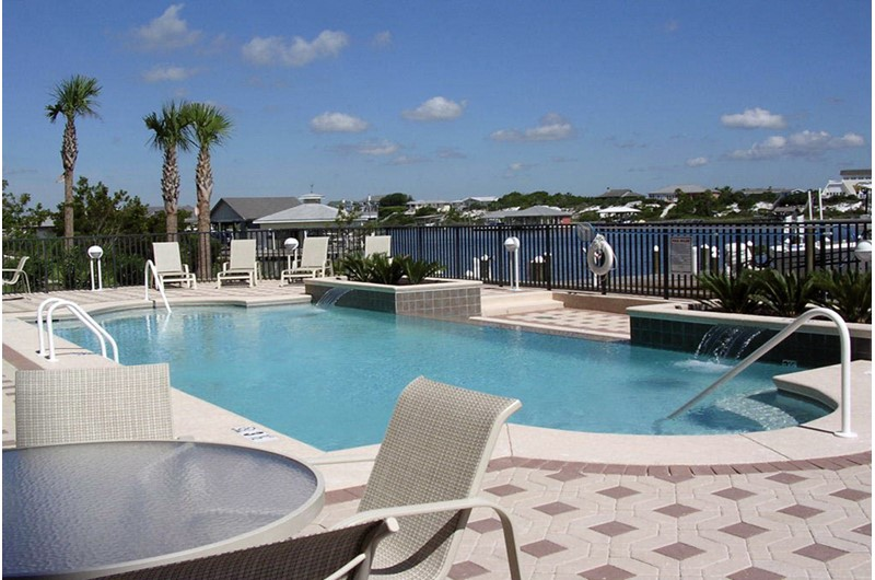 Outdoor pool at Legacy Key in Orange Beach Alabama