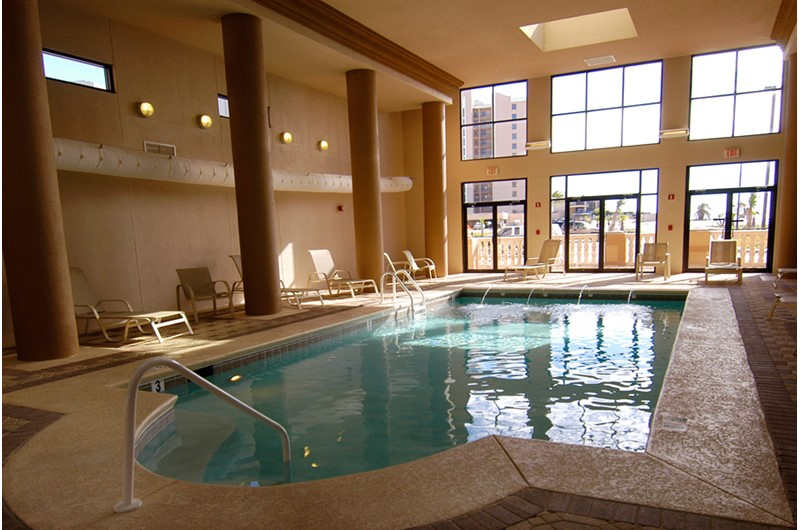 Indoor pool at Legacy Key in Orange Beach Alabama