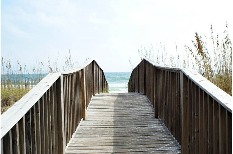 Easy access to the beach from Take a break from the sun and swim indoors at Lei Lani in Orange Beach Alabama