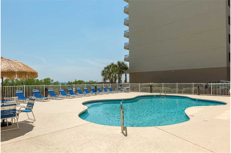 Pool area at Marlin Key in Orange Beach Alabama