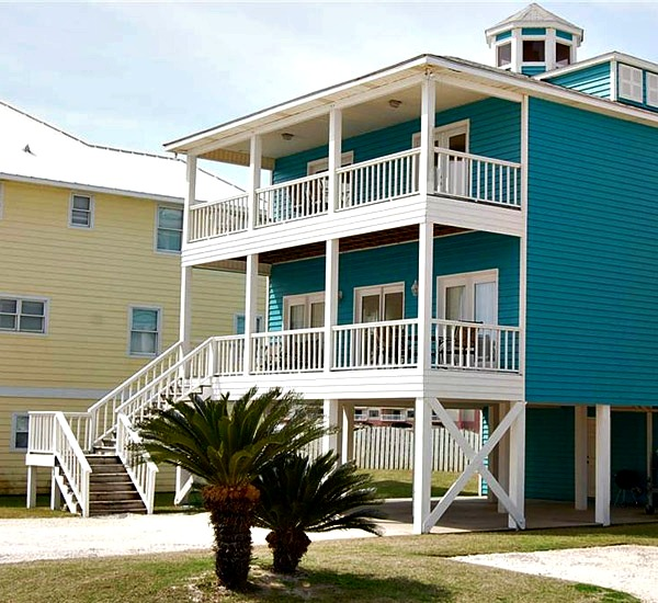 Exterior view of Hayley House one of the Orange Beach Vacation Homes