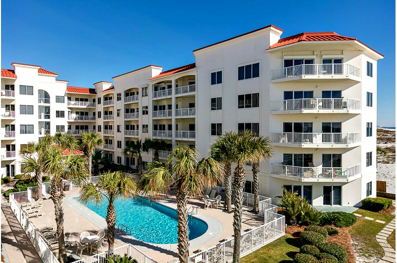 Beachside pool at Palm Beach Condos in Orange Beach AL