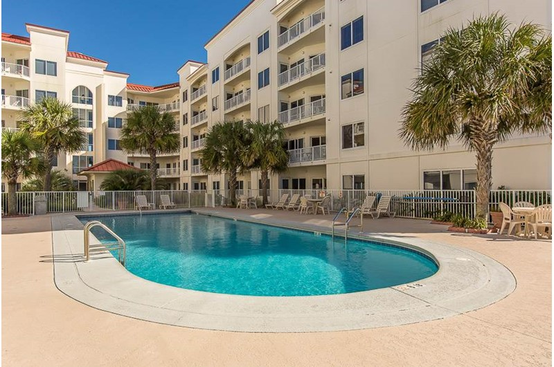 Plenty of room on the pool deck at Palm Beach Condos in Orange Beach AL