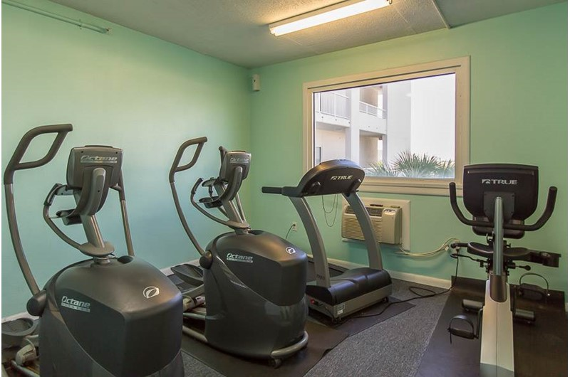 Work out in the gym at Palm Beach Condos in Orange Beach AL
