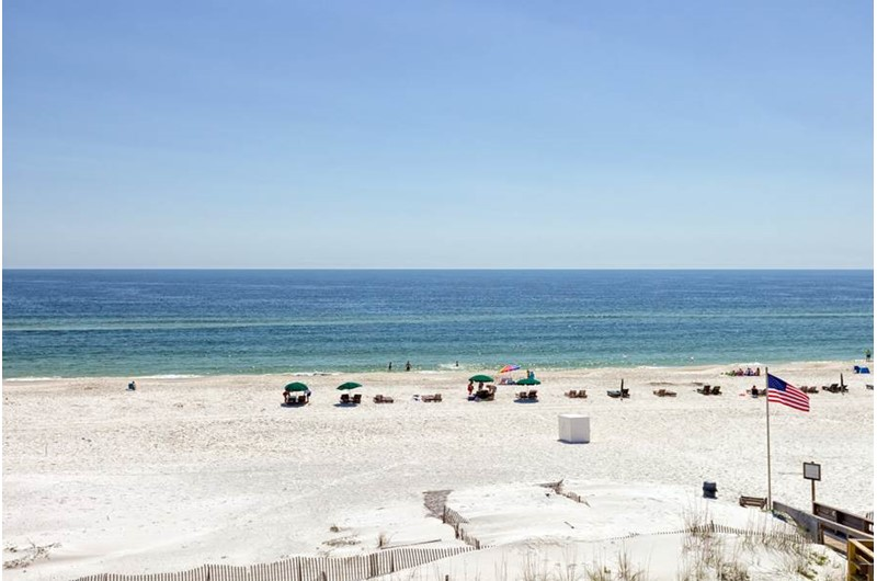 Direct view of the Gulf from Palm Beach Condos in Orange Beach AL